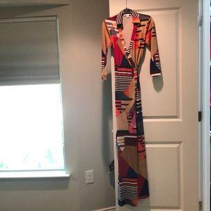 DVF wrap dress, long